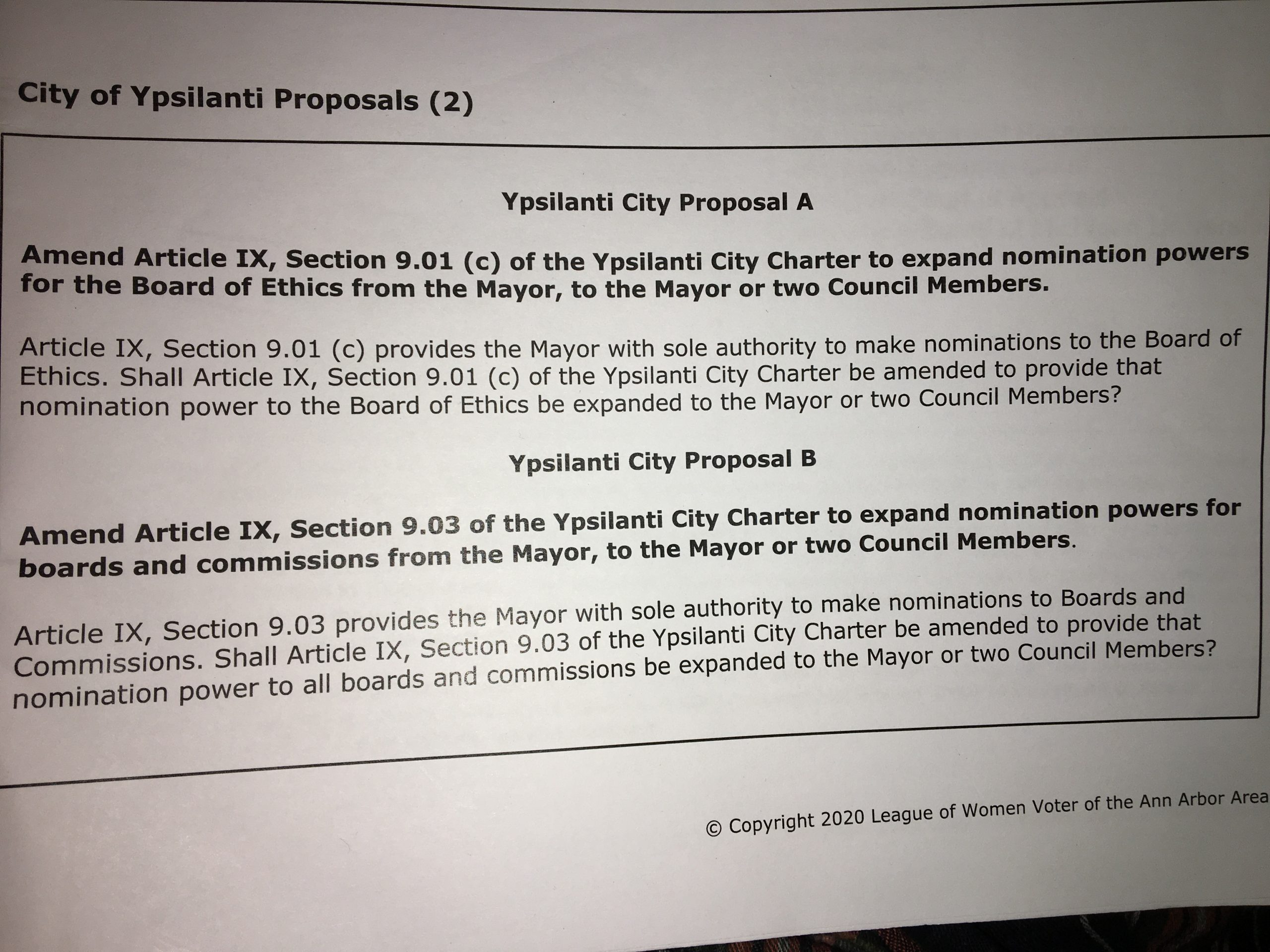 Op Ed: VOTE YES on City of Ypsi Proposals A & B